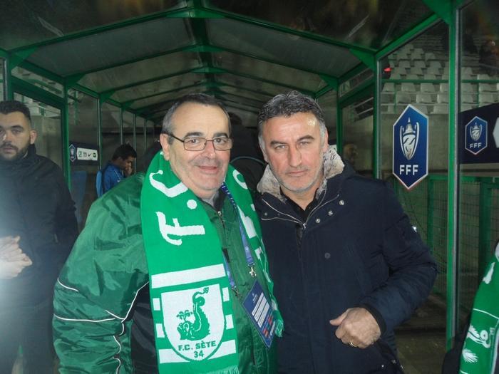 FC Sète 34 / LOSC - 22/01/2019  Jacques Colicchio et Christophe Galtier