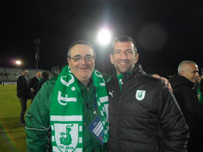 FC Sète 34 / LOSC - 22/01/2019  Jacques Colicchio et Christophe Rouve