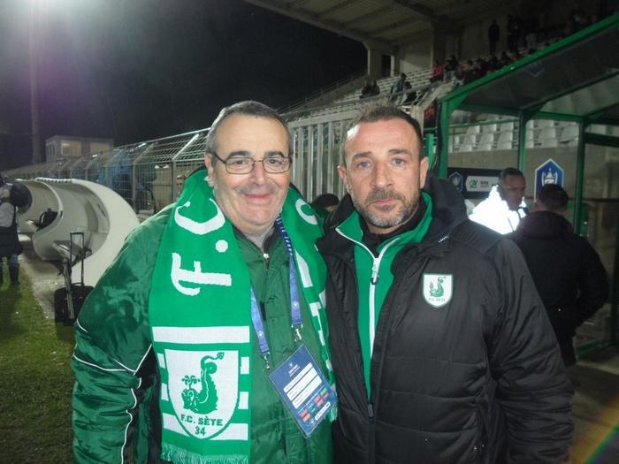FC Sète 34 / LOSC - 22/01/2019  Jacques Colicchio et Nicolas Guibal