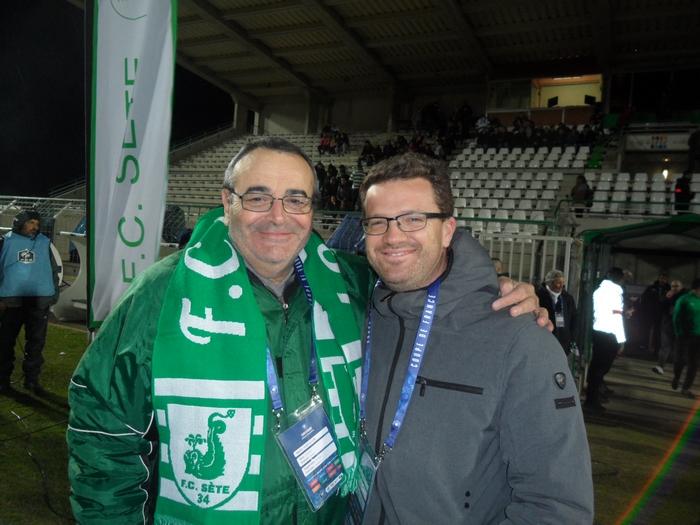 FC Sète 34 / LOSC - 22/01/2019  Jacques Colicchio et Julien Landry